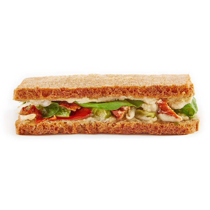 The 5 veggie wheat free sandwich