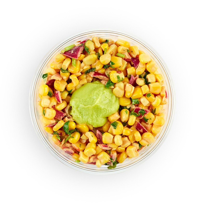 Chipotle corn & avocado healthpot