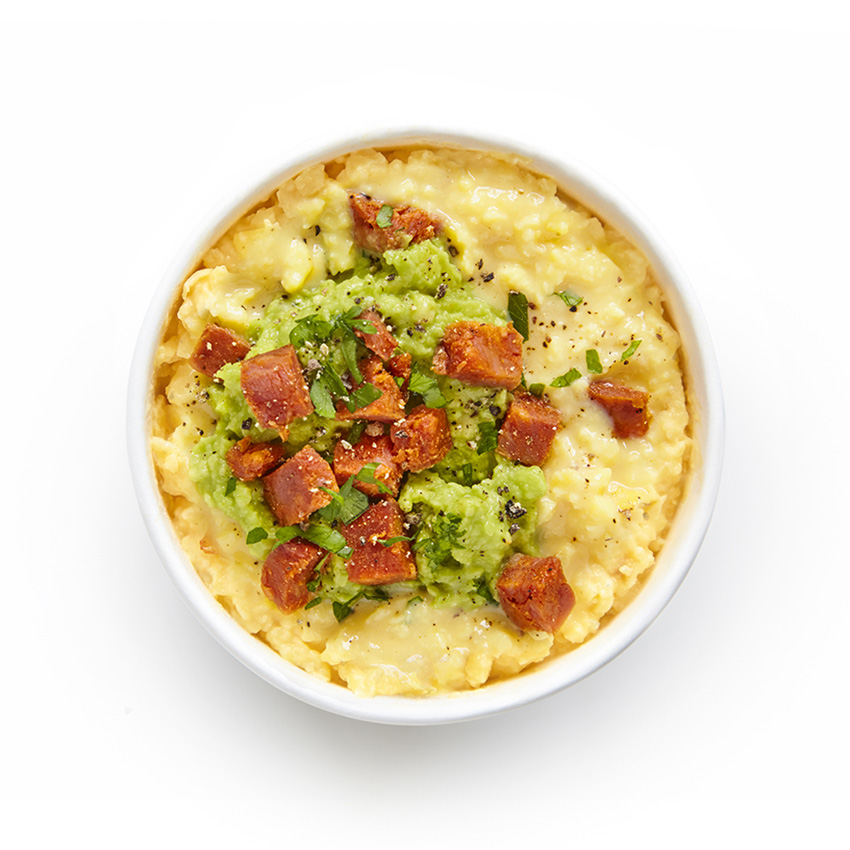 Scrambled Egg Protein Pot with Chorizo & Avocado