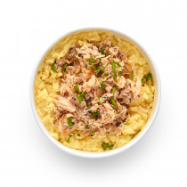 Scrambled Egg Protein Pot with Hot Smoked Salmon