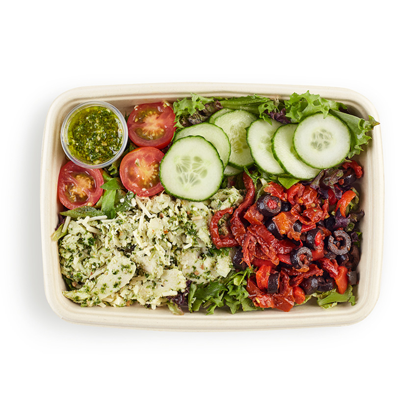 Mediterranean chicken salad box