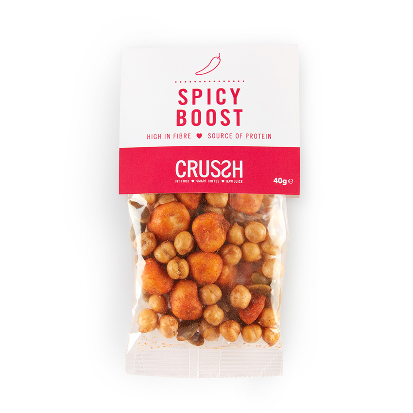 Spicy boost snack bag