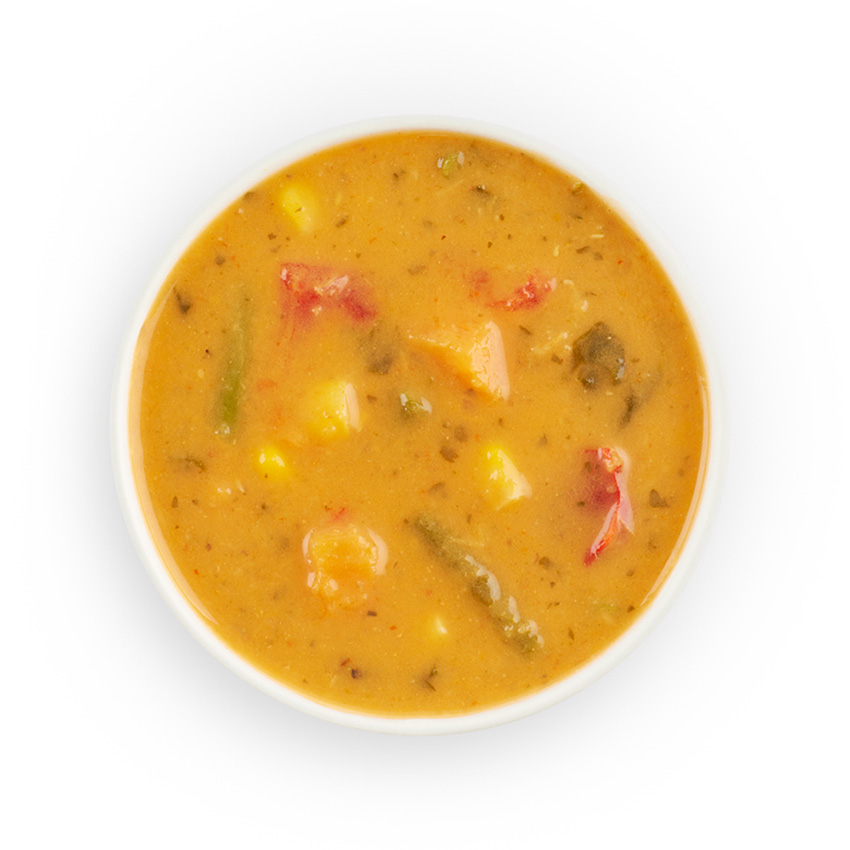 Thai red veg & lentil soup
