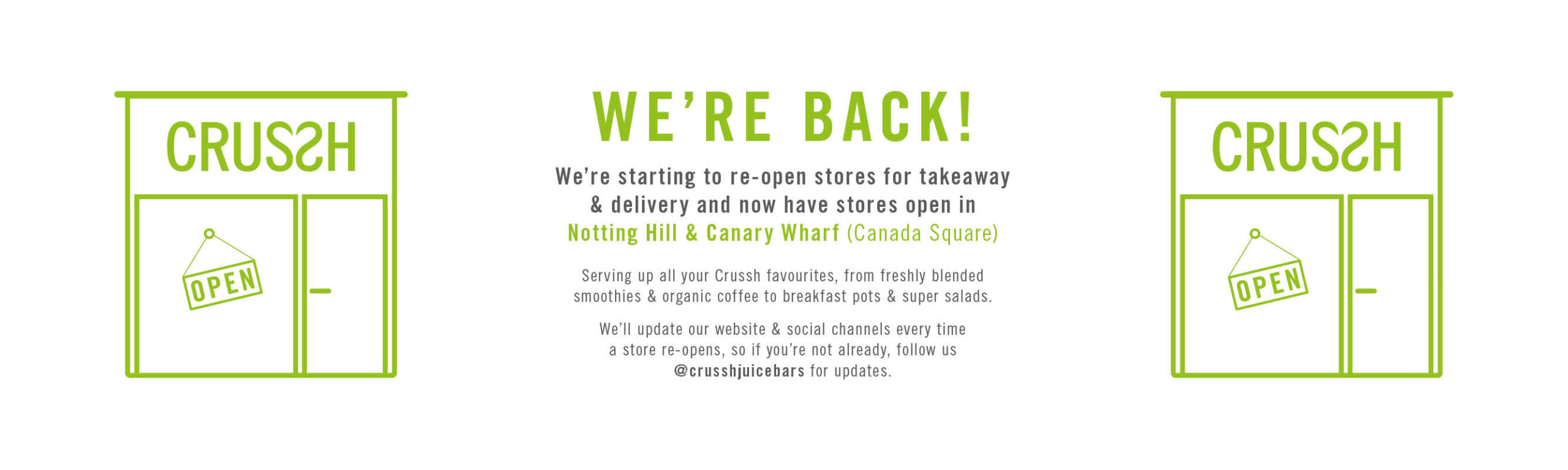 Store reopening